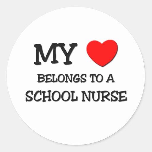 My Heart Belongs To A SCHOOL NURSE Stickers