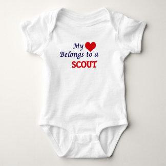 My heart belongs to a Scout Baby Bodysuit