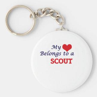 My heart belongs to a Scout Keychain