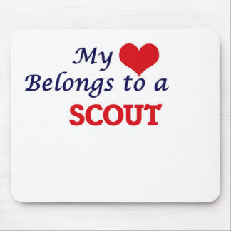 My heart belongs to a Scout Mouse Pad