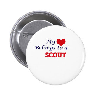 My heart belongs to a Scout Pinback Button