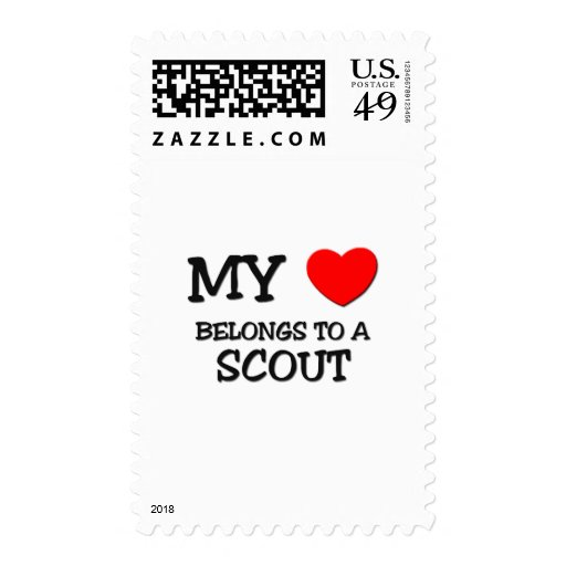 My Heart Belongs To A SCOUT Postage Stamps