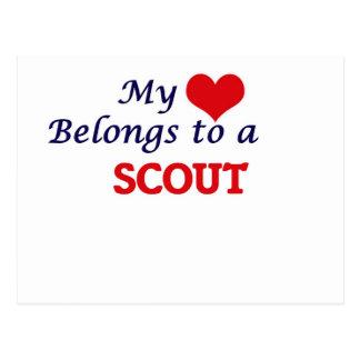 My heart belongs to a Scout Postcard