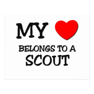 My Heart Belongs To A SCOUT Postcard