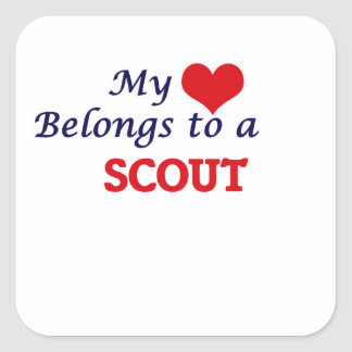 My heart belongs to a Scout Square Sticker