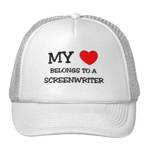My Heart Belongs To A SCREENWRITER Hats