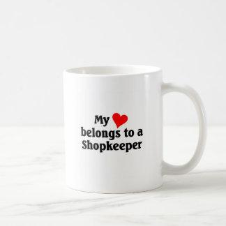 My heart belongs to a shopkeeper coffee mug