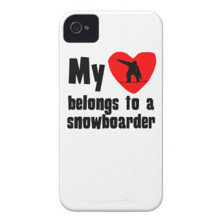 My Heart Belongs To A Snowboarder iPhone 4 Case-Mate Case
