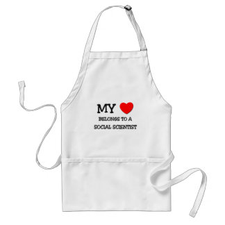 My Heart Belongs To A SOCIAL SCIENTIST Adult Apron