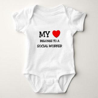 My Heart Belongs To A SOCIAL WORKER Baby Bodysuit
