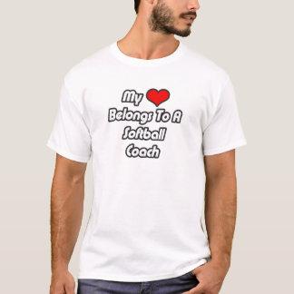 My Heart Belongs To A Softball Coach T-Shirt