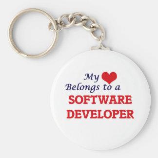 My heart belongs to a Software Developer Keychain