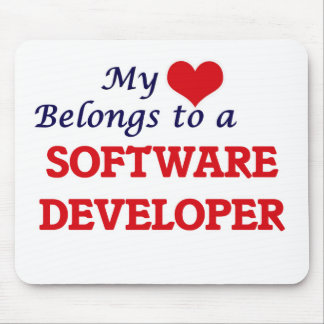 My heart belongs to a Software Developer Mouse Pad