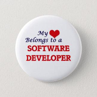 My heart belongs to a Software Developer Pinback Button