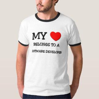 My Heart Belongs To A SOFTWARE DEVELOPER T-Shirt