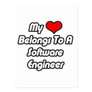My Heart Belongs To A Software Engineer Postcard
