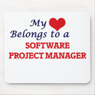 My heart belongs to a Software Project Manager Mouse Pad