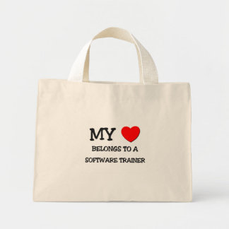 My Heart Belongs To A SOFTWARE TRAINER Canvas Bag