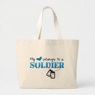 My Heart Belongs to A Soldier Bag