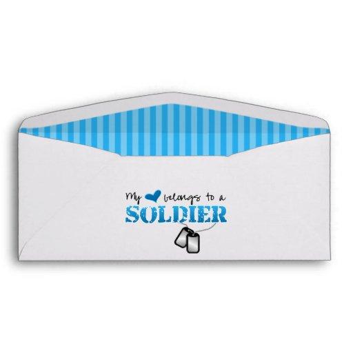 My Heart Belongs To A Soldier Envelope