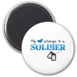 My Heart Belongs to A Soldier Fridge Magnet
