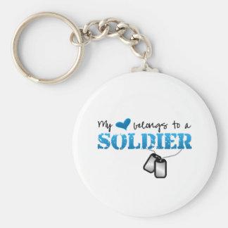 My Heart Belongs to A Soldier Keychain
