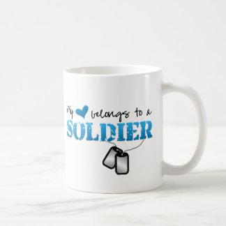 My heart belongs to a Soldier Mugs