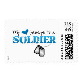 My heart belongs to a Soldier Stamp