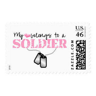 My heart belongs to a Soldier Postage Stamps