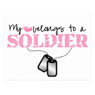 My Heart Belongs to A Soldier Postcards