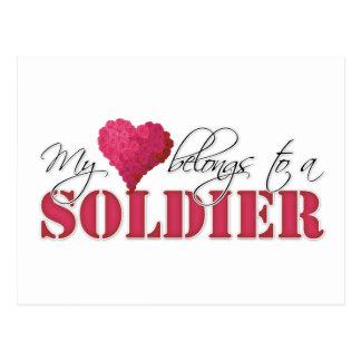 My Heart Belongs to A Soldier Postcard