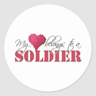 My Heart Belongs to A Soldier Stickers