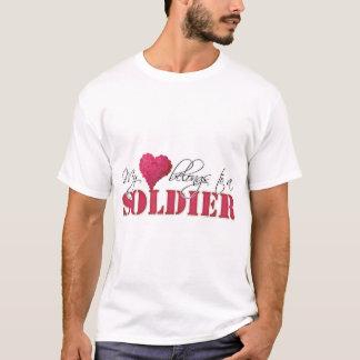 My Heart Belongs to A Soldier T-Shirt