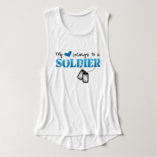 My Heart Belongs To A Soldier Tank Top