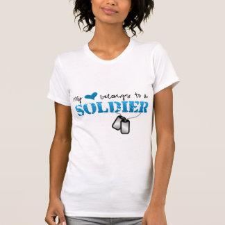 My heart belongs to a Soldier Tee Shirt
