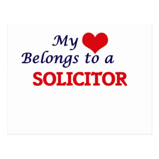 My heart belongs to a Solicitor Postcard