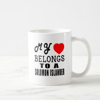 My Heart Belongs To A Solomon Islander Coffee Mugs