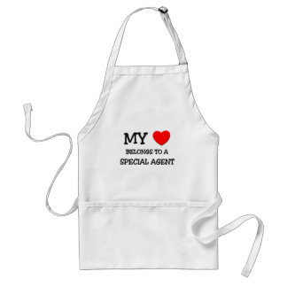 My Heart Belongs To A SPECIAL AGENT Adult Apron