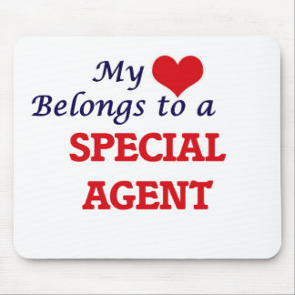 My heart belongs to a Special Agent Mouse Pad