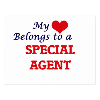 My heart belongs to a Special Agent Postcard