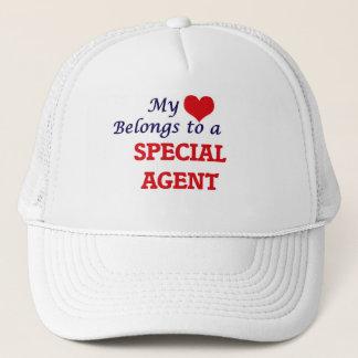 My heart belongs to a Special Agent Trucker Hat