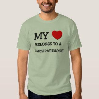 My Heart Belongs To A SPEECH PATHOLOGIST T-shirt