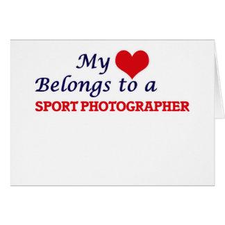 My heart belongs to a Sport Photographer Card