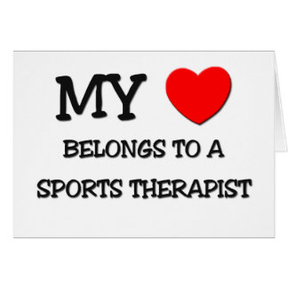 My Heart Belongs To A SPORTS THERAPIST Cards