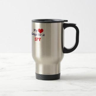 My heart belongs to a Spy Travel Mug