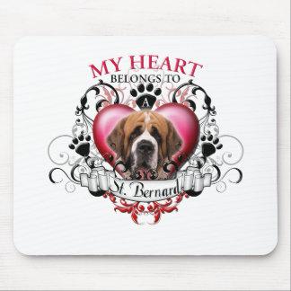 My Heart Belongs to a St Bernard Mouse Pad