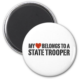 My Heart Belongs To A State Trooper Magnet