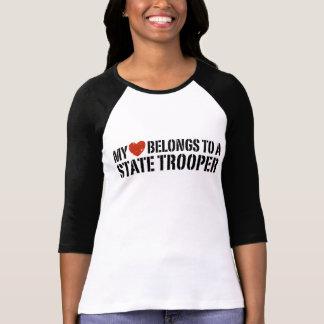 My Heart Belongs To A State Trooper Tee Shirt
