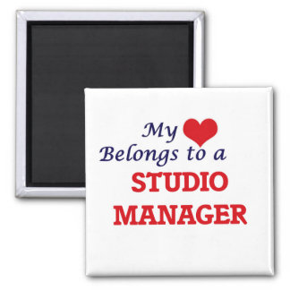My heart belongs to a Studio Manager Magnet