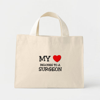My Heart Belongs To A SURGEON Canvas Bags
